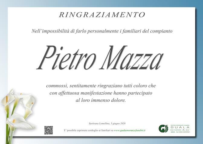 Ringraziamenti per Pietro Mazza