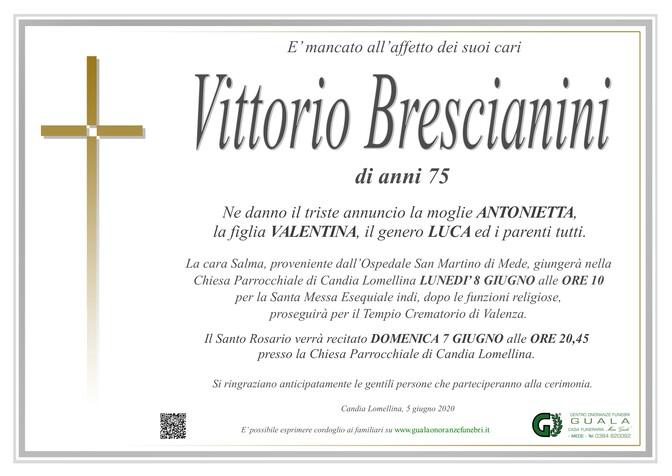 Necrologio di Vittorio Brescianini
