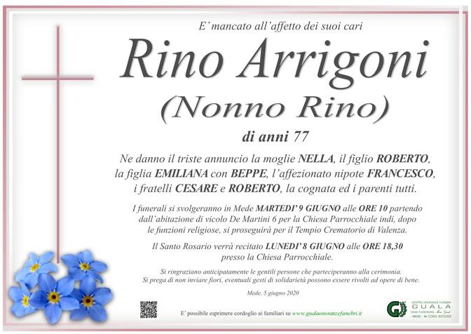 Necrologio di Rino Arrigoni (Nonno Rino)