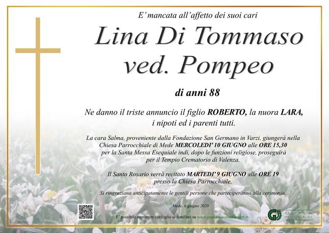 Necrologio di Lina Di Tommaso ved. Pompeo