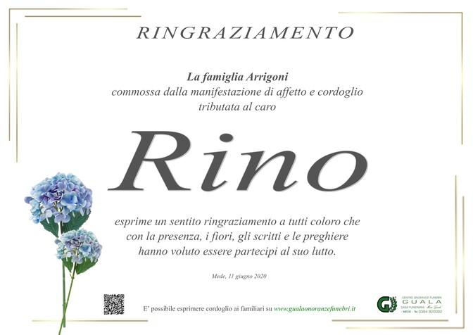 Ringraziamento per Rino Arrigoni (Nonno Rino)