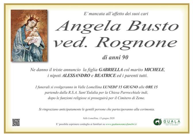 Necrologio di Angela Busto ved. Rognone