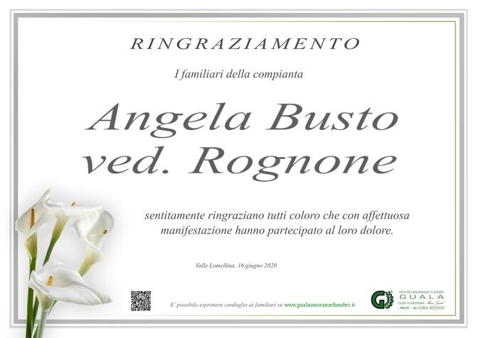 Ringraziamenti per Angela Busto ved. Rognone