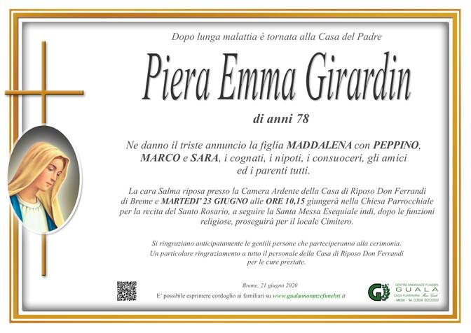 Necrologio di Piera Emma Girardi