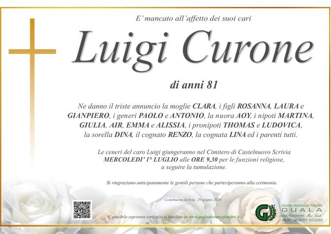 Necrologio di Luigi Curone