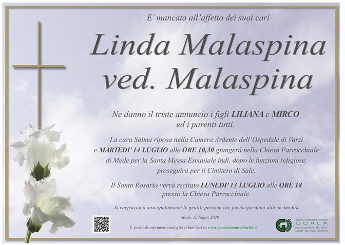Necrologio di Linda Malaspina ved. Malaspina