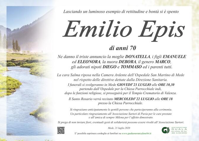 Necrologio di Emilio Epis