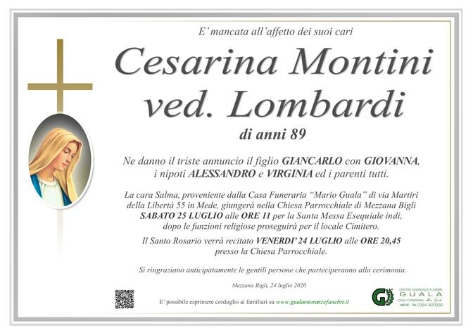 Necrologio di Cesarina Montini ved. Lombardi