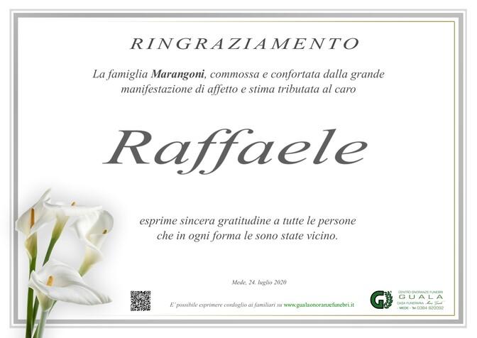 Ringraziamenti per Raffaele Marangoni