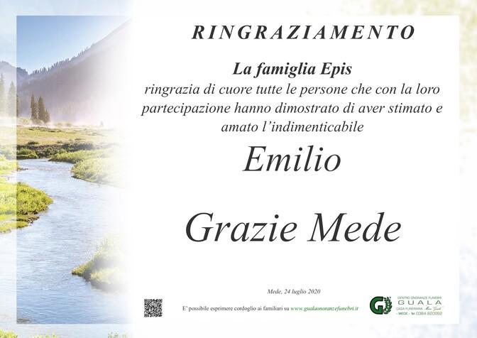 Ringraziamenti per Emilio Epis