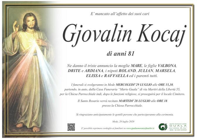 Necrologio di Gjovalin Kocaj