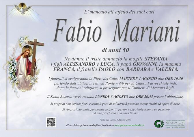 Necrologio di Fabio Mariani