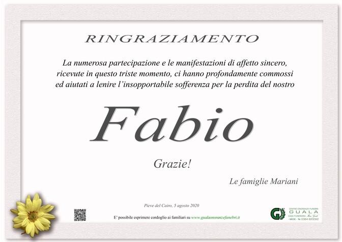Ringraziamento per Fabio Mariani