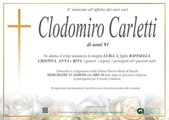Necrologio di Clodomiro Carletti