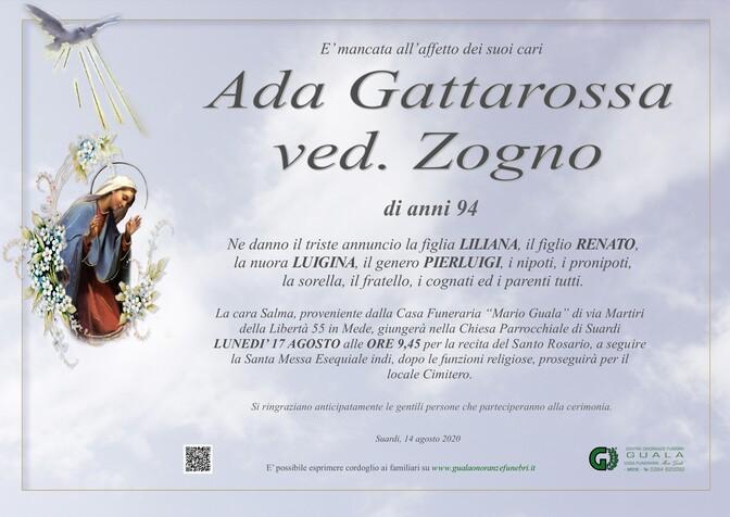 Necrologio di Ada Gattarossa ved. Zogno