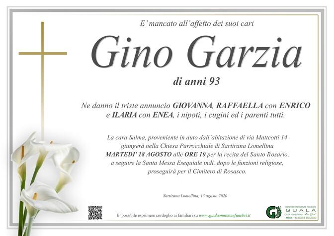 Necrologio di Gino Garzia