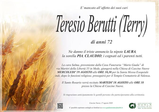 Necrologio di Teresio Berutti (Terry)