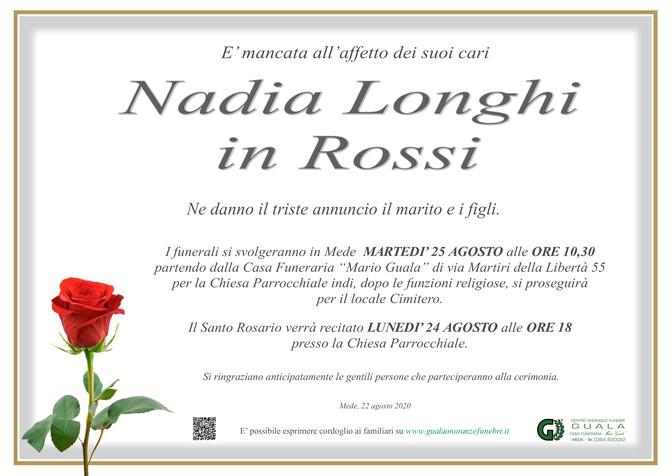 Necrologio di Nadia Longhi in Rossi