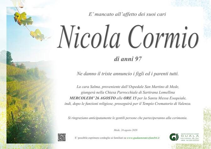 Necrologio di Nicola Cormio