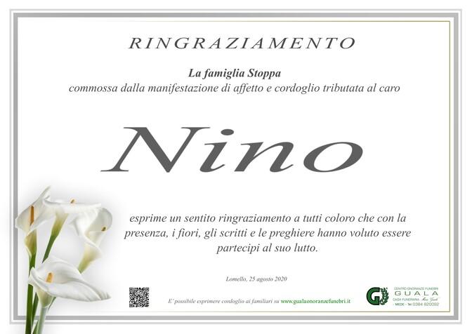 Ringraziamento per Nino Stoppa