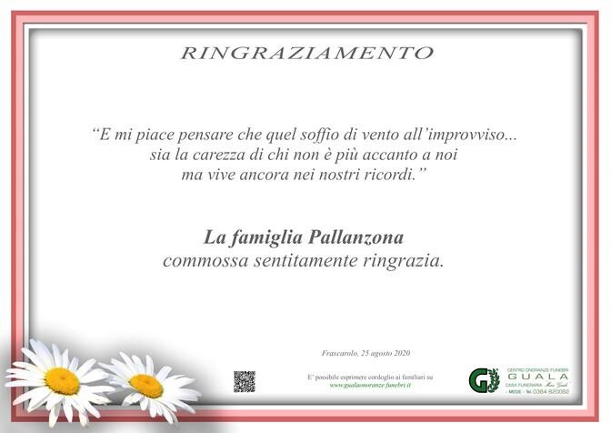 Ringraziamento per Massimo Pallanzona