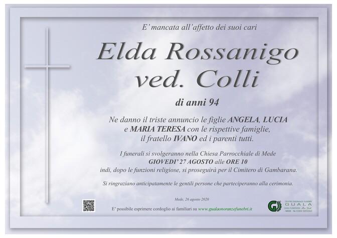 Necrologio di Elda Rossanigo ved. Colli