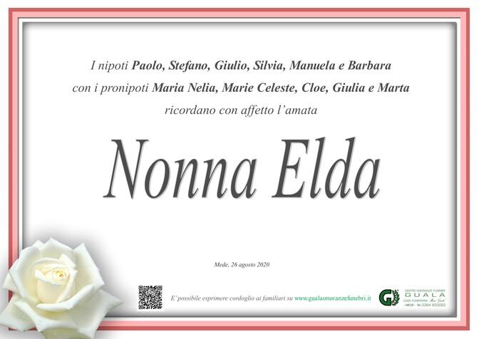 Ringraziamento per Elda Rossanigo ved. Colli