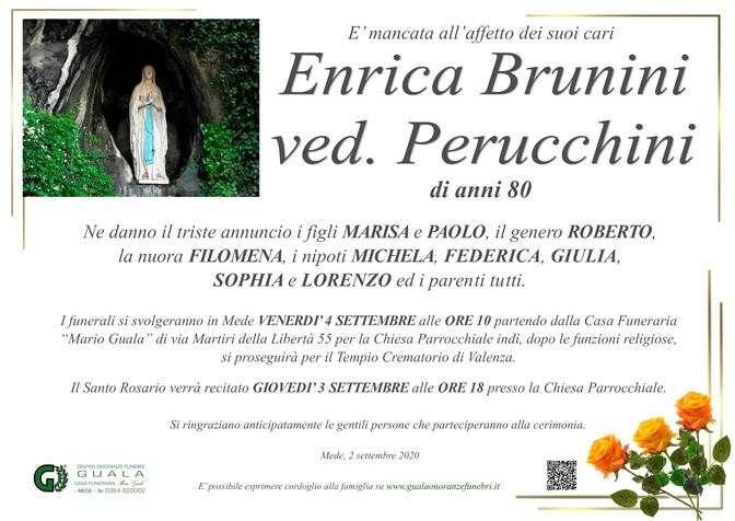 Necrologio di Enrica Brunini ved. Perucchini