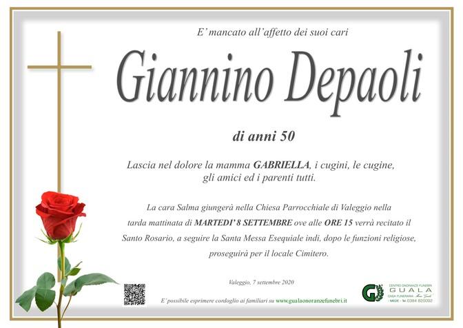 Necrologio di Giannino Depaoli