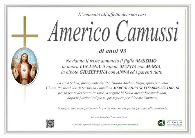 Necrologio di Americo Camussi