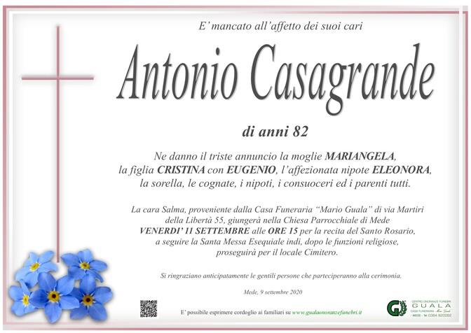 Necrologio di Antonio Casagrande