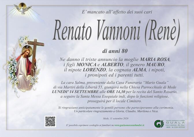 Necrologio di Renato Vannoni (Renè)