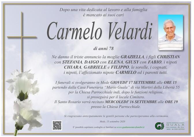 Necrologio di Carmelo Velardi