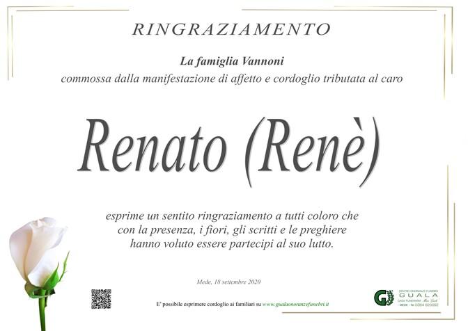 Ringraziamenti per Renato Vannoni (Renè)
