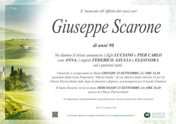 Necrologio di Giuseppe Scarone