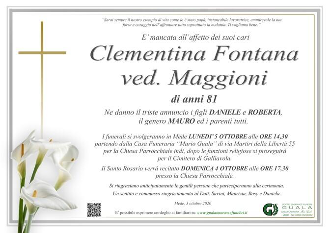 Necrologio di Clementina Fontana ved. Maggioni