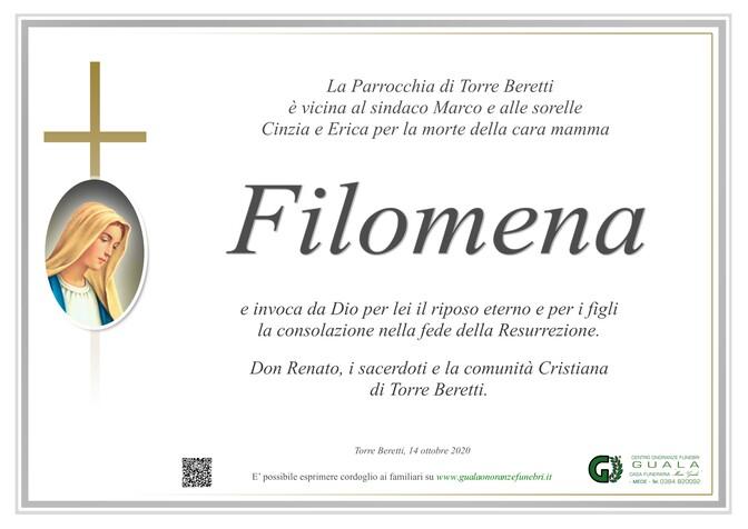 Ringraziamenti per Filomena Siciliano ved. Broveglio
