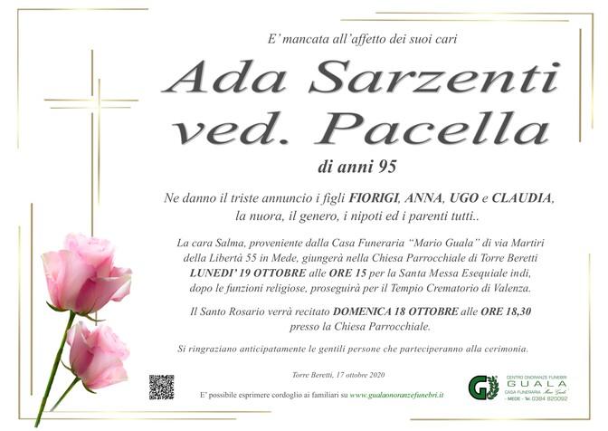 Necrologio di Ada Sarzenti ved. Pacella