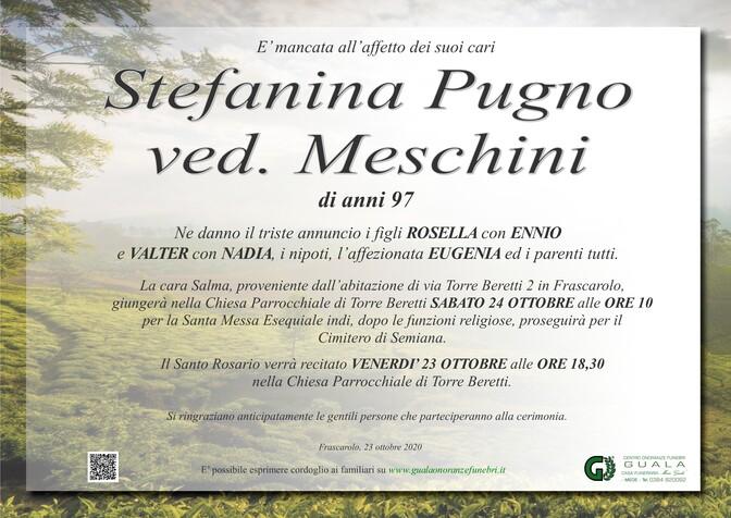 Necrologio di Stefanina Pugno ved. Meschini