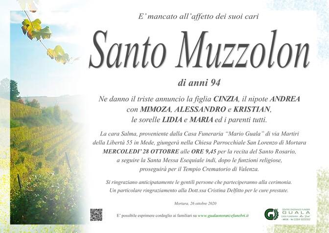 Necrologio di Santo Muzzolon