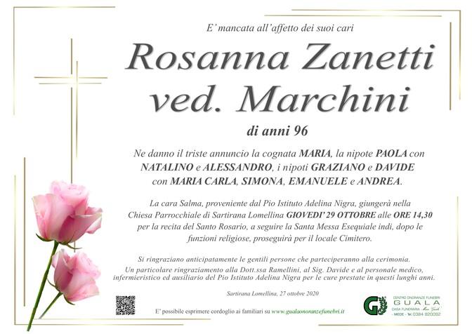 Necrologio di Rosanna Zanetti ved. Marchini