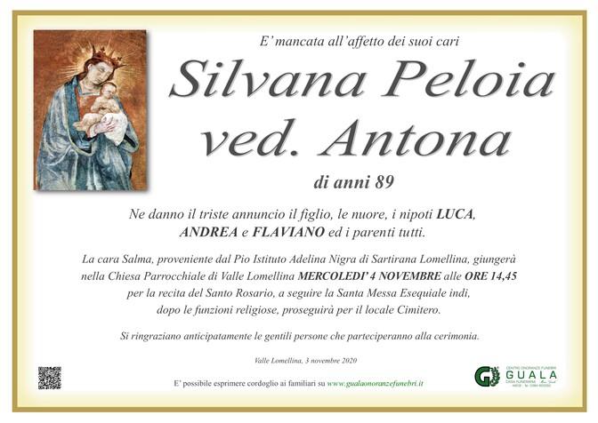 Necrologio di Silvana Peloia ved. Antona