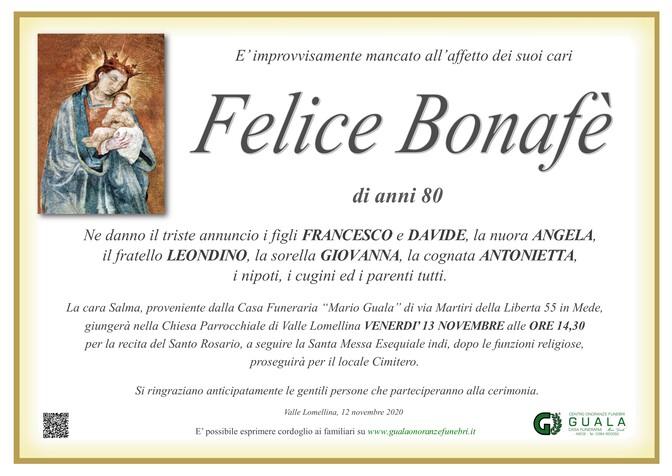 Necrologio di Felice Bonafè