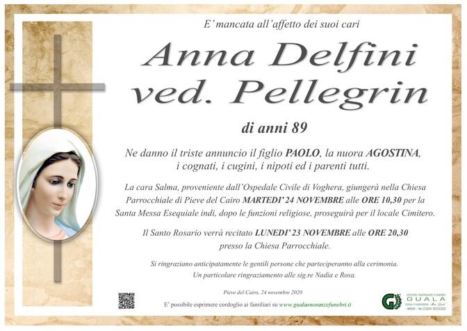 Necrologio di Anna Delfini ved. Pellegrin