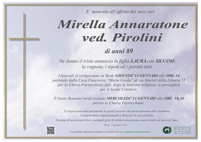 Necrologio di Mirella Annaratone ved.Pirolini
