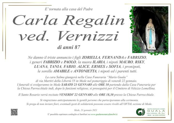 Necrologio di Carla Regalin ved. Vernizzi