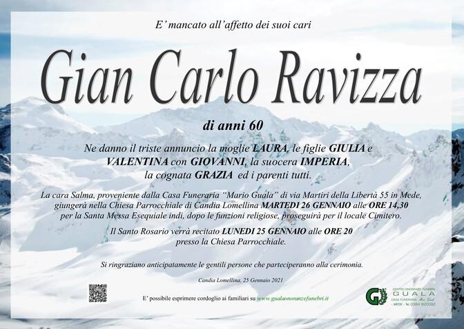 Necrologio di Gian Carlo Ravizza