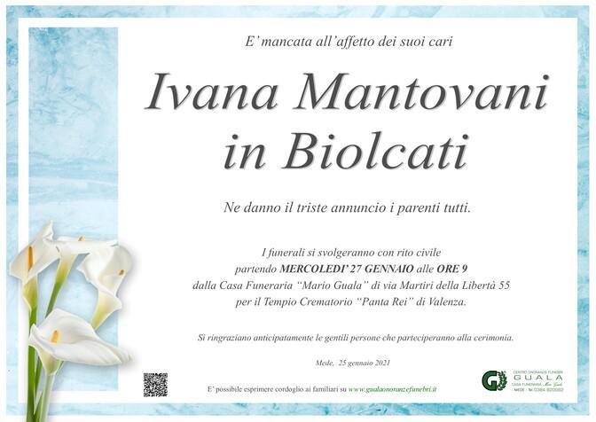 Necrologio di Ivana Mantovani in Biolcati