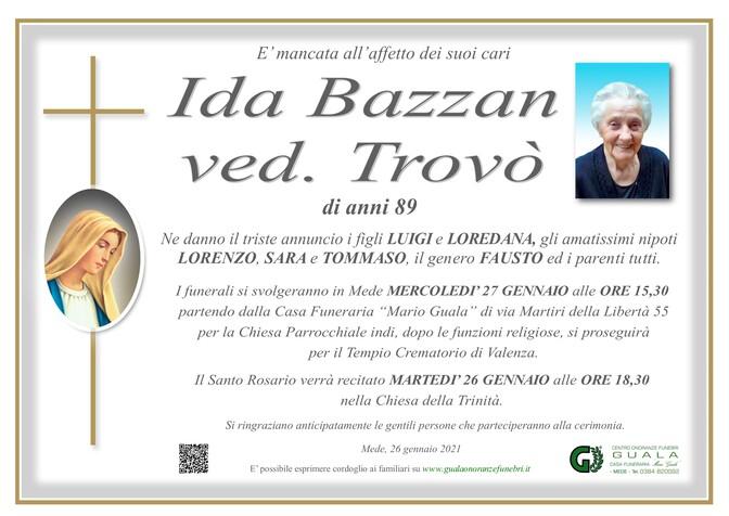 Necrologio di Ida Bazzan ved. Trovò