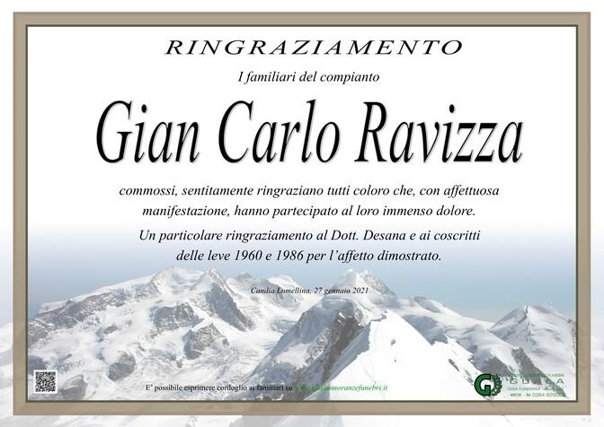 Ringraziamento per Gian Carlo Ravizza
